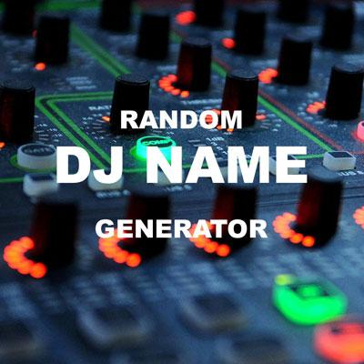 Random DJ Name generator
